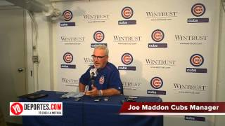 Chicago Cubs Joe Maddon press conference after game 2 Crosstown Cup vs White Sox