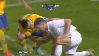getlinkyoutube.com-Zlatan Ibrahimovic - All 4 Goals Vs England 14.11.2012