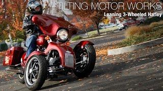 getlinkyoutube.com-Tilting Motor Works: Leaning 3-Wheeled Harley - MotoUSA