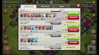 getlinkyoutube.com-Clash of clans BEST TH7 Trophy/Troll base with defense replays
