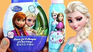 getlinkyoutube.com-Champú, gel y colonia de Frozen - Eau de Toilette and Shower Gel Shampoo