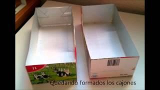 getlinkyoutube.com-Organizador hecho con cartón y briks de leche