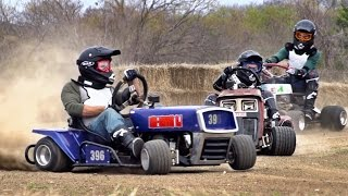 getlinkyoutube.com-Lawnmower Racing Battle | Dude Perfect