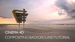 getlinkyoutube.com-Cinema 4D: compositing background