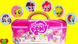 getlinkyoutube.com-My Little Pony Stamp Art Studio with Surprises