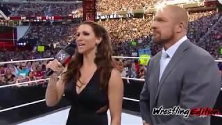 ROCK ATTACK :  The Rock & Ronda Rousey Vs.Triple H & Stephanie McMahon WrestleMania 31