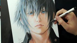 getlinkyoutube.com-DRAWING CHALLENGE | Noctis Lucis Caelum | Final Fantasy XV