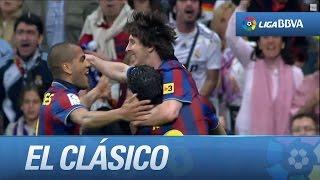 Todos los goles de Messi en El Clásico width=