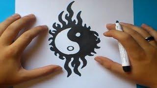 getlinkyoutube.com-Como dibujar un simbolo yin yang paso a paso | How to draw one yin yang symbol