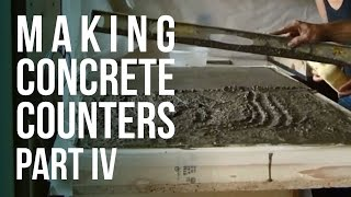 getlinkyoutube.com-Making Concrete Counter Tops - Part 4