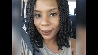 getlinkyoutube.com-Shoulder Length Cuban Twist | Invisible Roots | 4C Natural Hair | Spring Break 2016