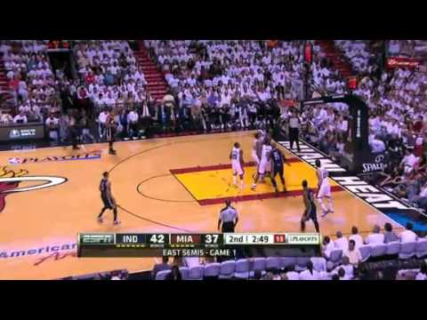 NBA Indiana Pacers Vs Miami Heat Game 1 Highlights - Playoffs 2012