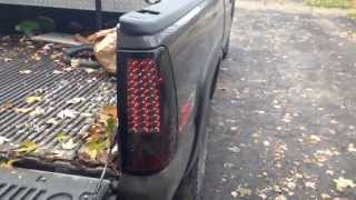 getlinkyoutube.com-1999 - 2006 gmc sierra aftermarket smoked led taillights review