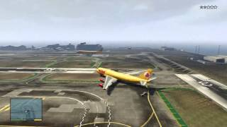 getlinkyoutube.com-GTA V: How To Get To The Airport & Fly A JUMBO JET! (INCLUDING CRASHES)