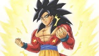 getlinkyoutube.com-Drawing Goku SSJ4 - Super Saiyan 4