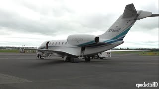 getlinkyoutube.com-Cessna Citation X C750 N750GF - Powerful Take off - Gloucestershire Airport