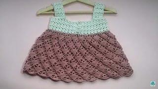 getlinkyoutube.com-Vestido de verano a crochet para niña #tutorial