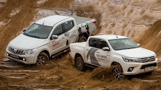 getlinkyoutube.com-Сравнительный тест: Toyota Hilux и Mitsubishi L200