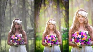 getlinkyoutube.com-Photoshop Wedding photo editing | Oil Painting | Color adjustment