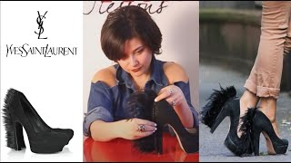 getlinkyoutube.com-Fashion Attack : how to make YSL feather high heels DIY