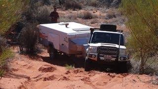 getlinkyoutube.com-Hay River Track - Simpson Desert  - V8 Landcruiser 76 - Jayco Swan - Navara D40 - UEV490