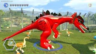 getlinkyoutube.com-LEGO Jurassic World game 🎮 CUSTOM Dinosaurs!
