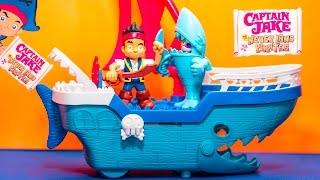 getlinkyoutube.com-CAPTAIN JAKE & THE NEVER LAND Pirates Disney Jake Shark Pirate Ship Captain Jake Video Toy Unboxing