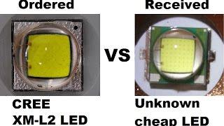 getlinkyoutube.com-LED Zoomable Flashlight with Fake Countefate CREE XM-L2 led / Фонарь + подделка XM-L2