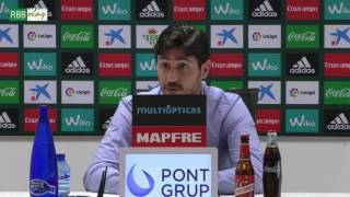 Rueda de prensa de Víctor Sánchez del Amo previa al Athletic-Betis
