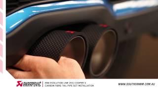 getlinkyoutube.com-Mini Cooper  S Akrapovic Evolution Performance Exhaust installation