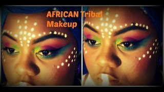 getlinkyoutube.com-African Tribe Makeup