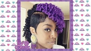 getlinkyoutube.com-Crochet Braids| Molded Sides Purple Marley Hair