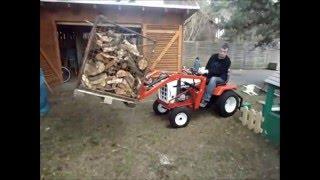 getlinkyoutube.com-Simplicity Rasentraktor mit Frontlader und Schnellwechsler Aufsitzmäher Bulldog Traktor