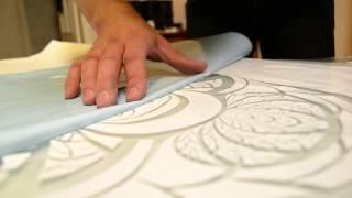 getlinkyoutube.com-Стеклянный столик в витражном стиле.