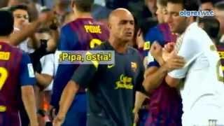 getlinkyoutube.com-pelea de  Barcelona Vs Real Madrid