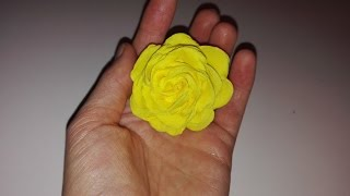 getlinkyoutube.com-Jak zrobić różę z bibuły marszczonej / How to make a tissue paper rose