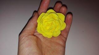 Jak zrobić różę z bibuły marszczonej / How to make a tissue paper rose