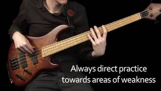 Learn Bass - Major Scale exercises to use in your daily practice routine