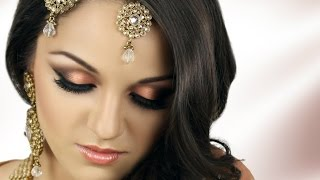getlinkyoutube.com-Asian Bridal Makeup Tutorial - Peach Smokey Eye
