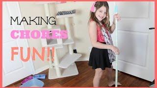 Making Chores Fun | My 5 favorite Chores | JazzyGirlStuff
