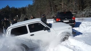 getlinkyoutube.com-Нива 3D противToyota Land Cruiser 200.