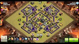 getlinkyoutube.com-Clash of Clans TH9 vs TH9 Valkyrie, Giant, Wizard, Witch & Pekka (VaGiWiWiPe) Clan War 3 Star Attack
