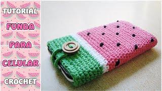 getlinkyoutube.com-Cómo hacer una funda para el celular a crochet, paso a paso