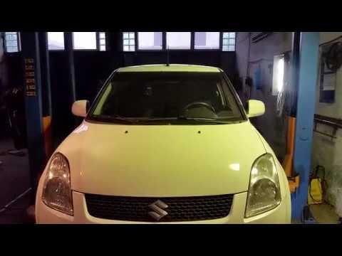 Suzuki Swift 2006 - 2009 г 1,5 бензин. Замена передней  шаровой опоры.