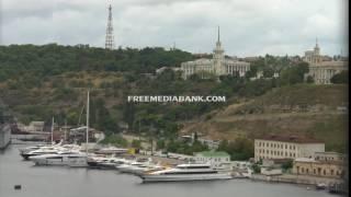 Sevastopol Bay. Free HD stock footage.