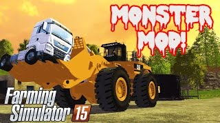 getlinkyoutube.com-Monster Mod | Let's Play Farming Simulator 2015 | Caterpillar 994F
