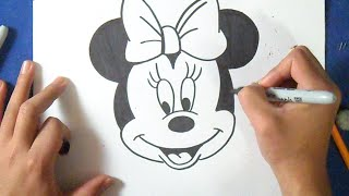 getlinkyoutube.com-Cómo dibujar a Minnie Mause