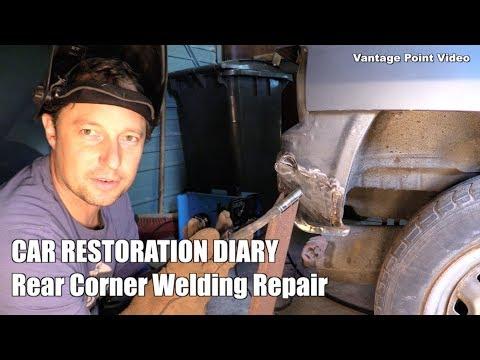 Rear Corner Welding Repair: Car Restoration Diary Series 2 #10