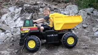 getlinkyoutube.com-THE TONKA 12V MIGHTY DUMP TRUCK
