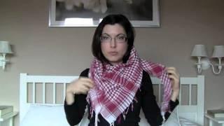 getlinkyoutube.com-Cómo ponerse bufandas, pañuelos, fulares...
